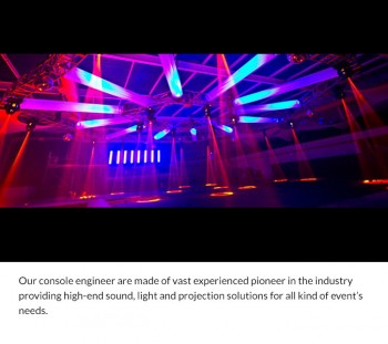 Professional Sound & Light Solution